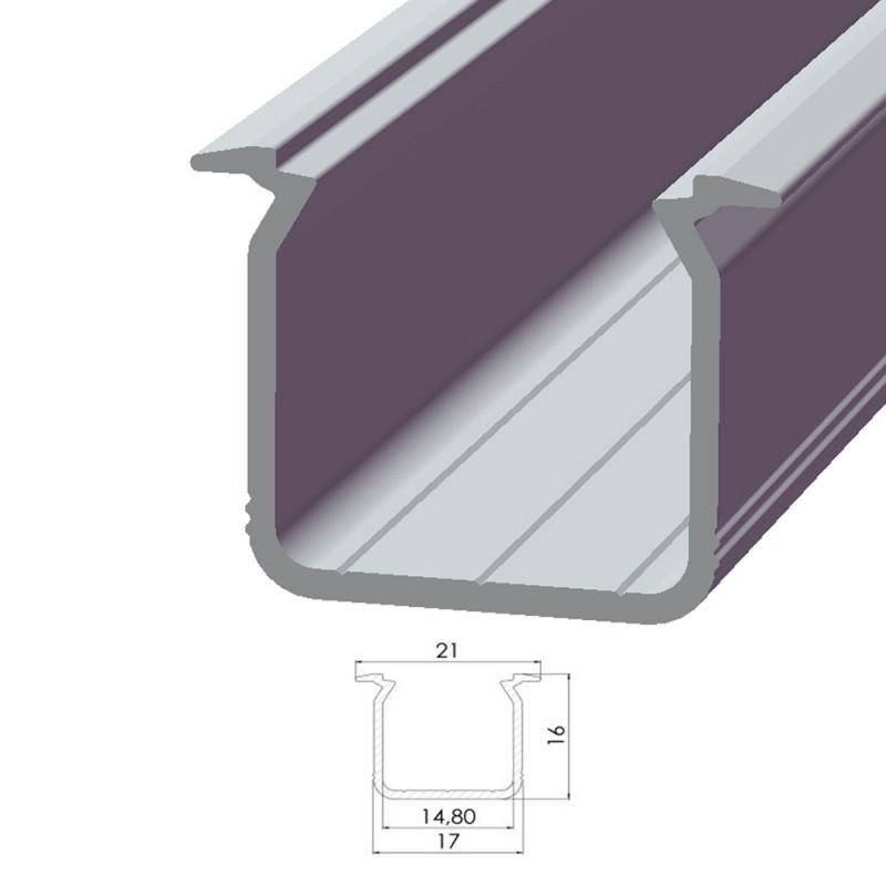 Perfil AlumínioTipo ECO P05 2,02M
